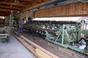 Saegewerk Harrer Holz in Ascholding vom Runholz zum Schnittholz