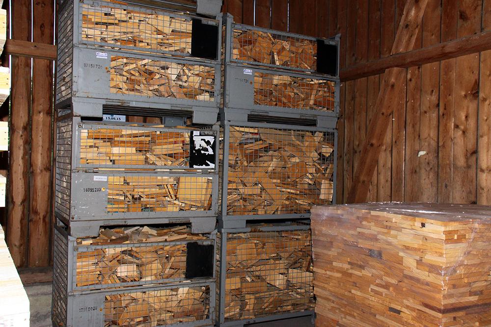 Saegewerk Harrer - anfallendes Brennholz